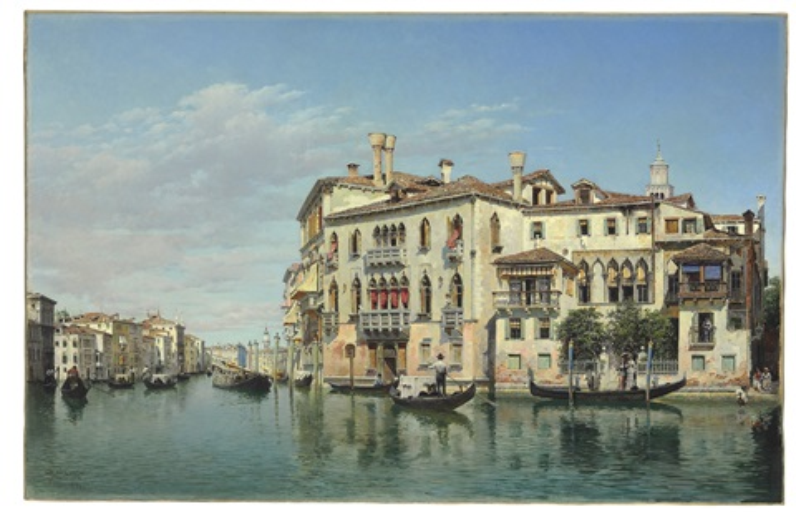 the grand canal, venice by federico del campo