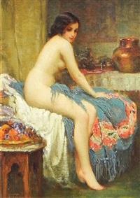 seated nude by joseph tomanek
