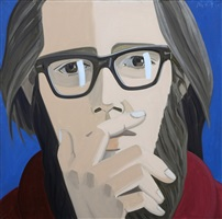 ted berrigan by alex katz