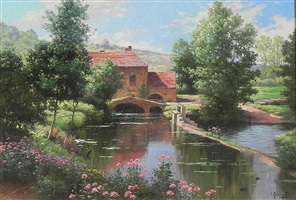 a mill on the river by rené charles edmond his