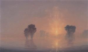 flooded river / summer dawn (mass moca #194) by stephen hannock