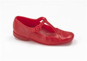 red shoe by robert gober