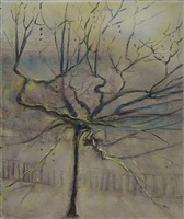 plane tree, great russell street by celia paul