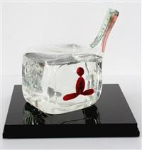 untitled (glass buddha tv) by nam june paik