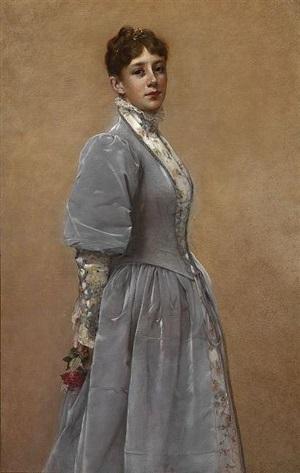 portrait of sadie p. waters by francis davis millet