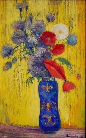 la vase bleu by leon dabo