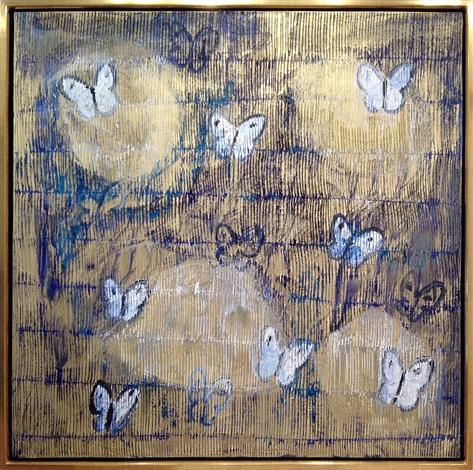 golden haze butterflies by hunt slonem