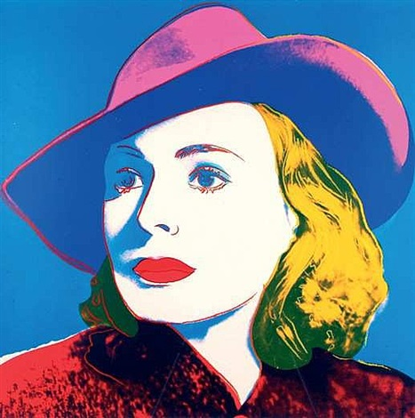 ingrid bergman: with hat by andy warhol