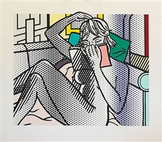 nude reading by roy lichtenstein