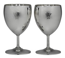 pair of tiffany silver goblets
