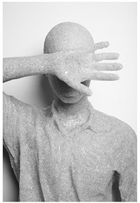 shielded figure by daniel arsham