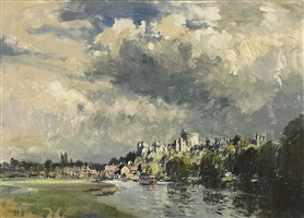 sunlight after storm, windsor by edward seago
