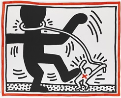 untitled 2 (free south africa) by keith haring