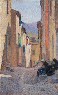 rue ensoleillée, après-midi (collioure) by henri jean guillaume martin