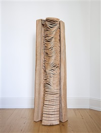 embedded crack and warp column by david nash