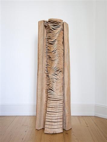 embedded crack and warp column by david nash