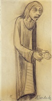 lehrender christus, mit vorgestreckten händen by ernst barlach