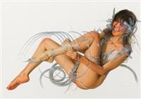 pin-up illustration by hajime sorayama