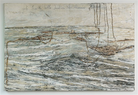 ich halte alle indien in meiner hand / i hold all the indias in my hand by anselm kiefer