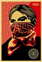zapatista woman by shepard fairey