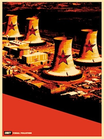visual pollution smoke stack by shepard fairey
