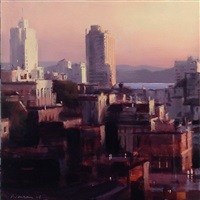 sunrise from nob hill by ben aronson