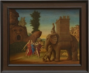 studies into the past (bomarzo) by laurent grasso