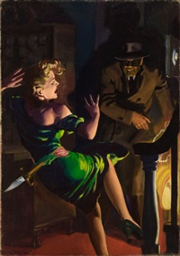speed mystery, pulp cover, may by hugh j. ward