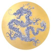 floral dragon gold leaf (shanghai tang series) by jacky tsai