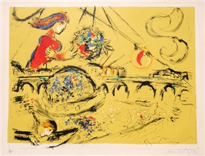 ile saint - louis by marc chagall