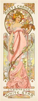 moët & chandon: champagne white star by alphonse mucha