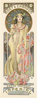 moët & chandon: grand crémant imperial by alphonse mucha