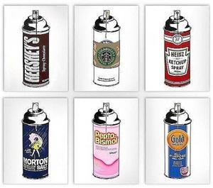 spray cans by mr. brainwash