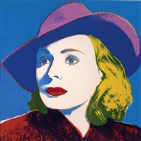 ingrid berman; with hat by andy warhol