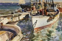 fishing boats ii by john whorf