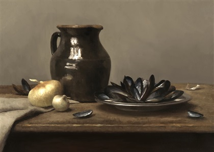 mussels and pitcher by sarah k. lamb