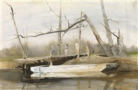 river boat by andrew wyeth