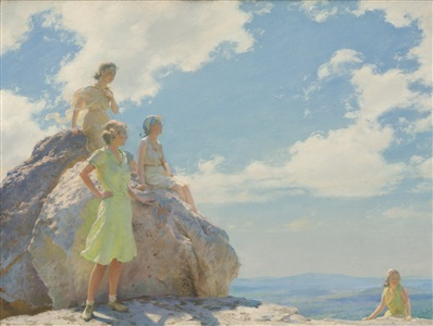 bear cliff rocks by charles courtney curran