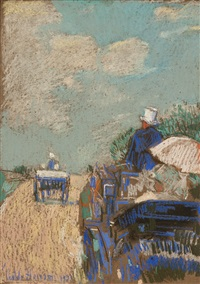 the drive near paris by childe hassam