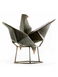 jackdaws on a chimney by terence coventry