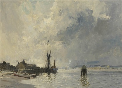 the spritsail barge by edward seago
