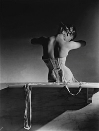 mainbocher corset, paris 1939 by horst p. horst