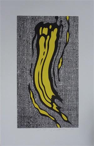 yellow brushstroke by roy lichtenstein
