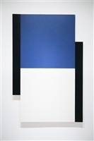 poles (blue, white, black) by scot heywood