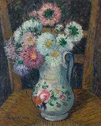 les fleurs en vase by gustave loiseau
