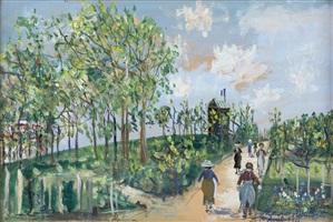 chemin de moulin à sannois (lucie mon espoir) by maurice utrillo