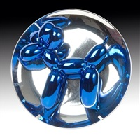 ballon dog (blue) by jeff koons