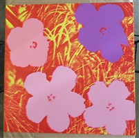 doublesided flowers by andy warhol