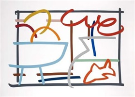 fast sketch fruit and goldfish by tom wesselmann
