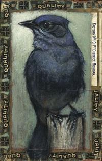 mountain bluebird / saturday evening post by ed musante